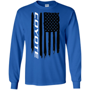 Coyote Ford Mustang 5 0 S550 S197 American Flag T Shirt Long Sleeve