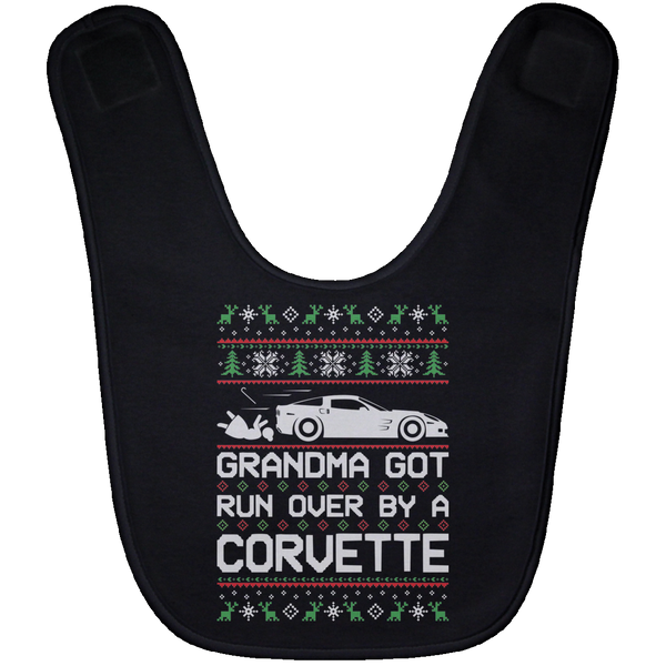 Wheel Spin Addict Corvette C6 Christmas Baby Bib