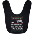 Wheel Spin Addict Tractor Christmas Baby Bib