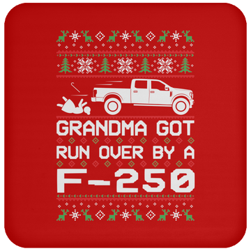 Wheel Spin Addict F250 F-250 Truck Christmas Coaster