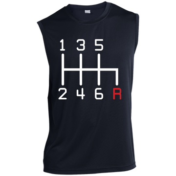 6-Speed Manual Stick Shift Sleeveless Performance T-Shirt