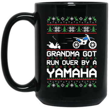 Wheel Spin Addict Yamaha Dirtbike WR Christmas 15 oz. Black Mug