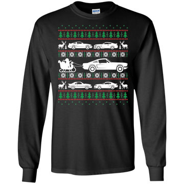 Ugly Christmas Ford Mustang Cotton T-Shirt Long Sleeve S550 S197 New Edge Foxbody