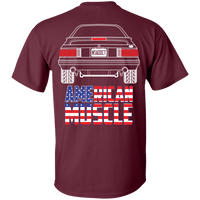 Foxbody Ford Mustang American Muscle Flag T-Shirt