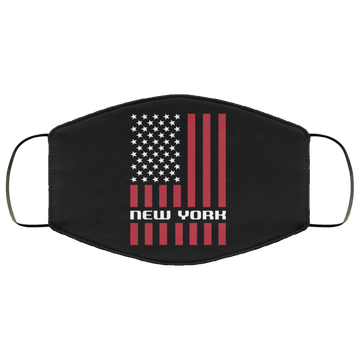 New York NY American Flag Face Mask
