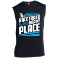 The Race Track Is Our Happy Place Sleeveless Performance T-Shirt