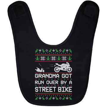Wheel Spin Addict Street Bike Christmas Baby Bib