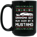 Wheel Spin Addict Mustang S550 Christmas 15 oz. Black Mug