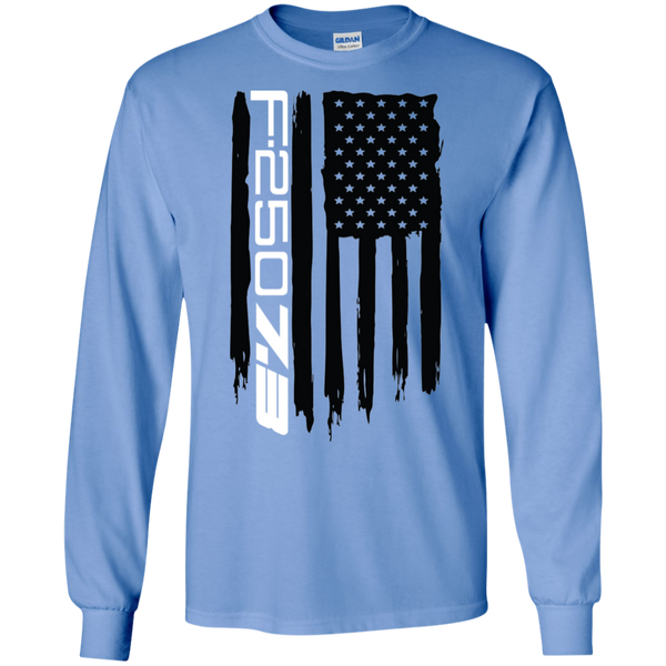 F-250 7.3 Diesel Power Stroke American Flag T-Shirt Long Sleeve
