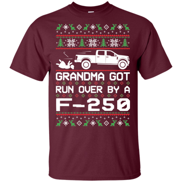 F-250 F-350 Grandma Got Run Over Ugly Christmas T-Shirt