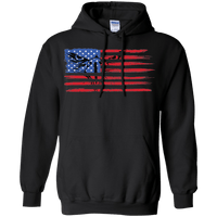 Bald Eagle Flag Pullover Hoodie