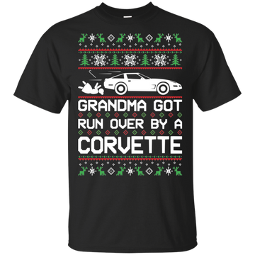Chevy Corvette C4 Ugly Christmas Grandma Got Run Over T-Shirt