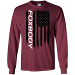 Ford Foxbody Notch SVO 5.0 American Flag T-Shirt Long Sleeve