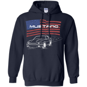 Ford Mustang Foxbody 5 0 GT Notch Cobra American Flag Pullover Hoodie