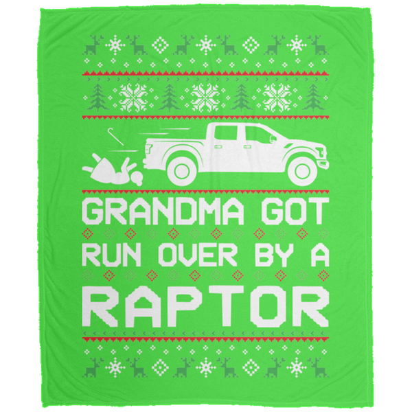 Wheel Spin Addict Christmas Ford Raptor F-150 Fleece Blanket - 50x60