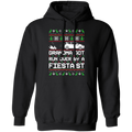 Ford Fiesta ST Ugly Christmas Grandma Got Run Over Pullover Hoodie