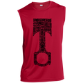 Piston Words Combustion Tuned Torque Racing Sleeveless Performance T-Shirt