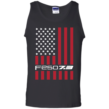 F-250 7.3 Power Stroke American Flag USA Tank Top