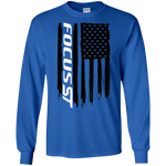 Ford Focus ST 2.0T Ecoboost American Flag T-Shirt Long Sleeve