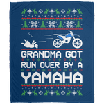 Wheel Spin Addict Christmas Yamaha Dirt Bike Fleece Blanket - 50x60
