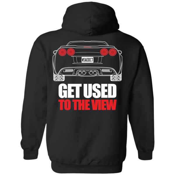Chevy Corvette C6 Double Sided Get Used to the View Pullover Hoodie New