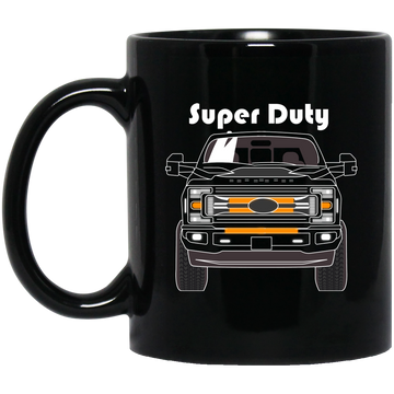 F-250 F-350 Super Duty Power Stroke 11 oz Black Mug