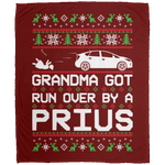 Wheel Spin Addict Christmas Toyota Prius Fleece Blanket - 50x60