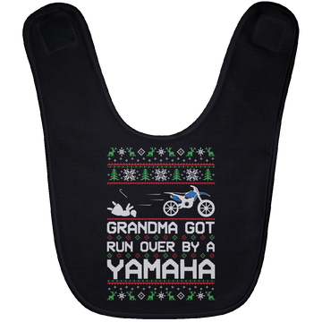Wheel Spin Addict Yamaha Dirtbike Christmas Baby Bib