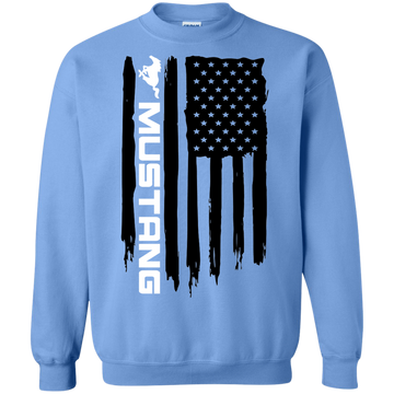 Ford Mustang American Flag Crewneck Pullover Sweatshirt  Foxbody New Edge GT 5.0 Coyote S197 S550 SN95 New