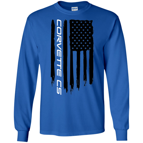 Corvette C5 American Flag Long Sleeve T-Shirt