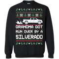 Chevy Silverado Classic Ugly Christmas Grandma Got Run Over Crewneck Sweatshirt