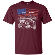 Toyota Tacoma Off Road Overland American Flag T Shirt