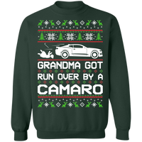 Wheel Spin Addict Ugly Christmas Men's Chevy Camaro 6th Gen Crewneck Sweatshirt