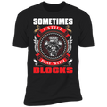 Sometimes I Still Play With Blocks Engine Blocks Premium Short Sleeve T-Shirt