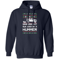 Hummer H2 Grandma Got Run Over Ugly Christmas Pullover Hoodie