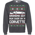 Chevy Corvette C4 Ugly Christmas Grandma Got Run Over by a Corvette Pullover Sweatshirt