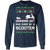 Scooter Moped Vespa Ugly Christmas Grandma Got Run Over Long Sleeve T-Shirt