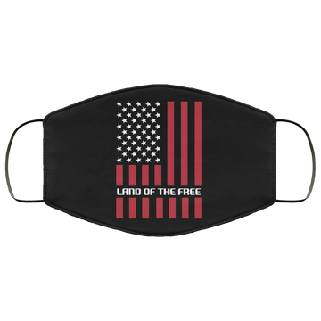 Land of the Free American Flag Face Mask