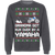 Yamaha Dirt Bike Motorcycle Ugly Christmas Grandma Got Run Over Crewneck Sweatshirt