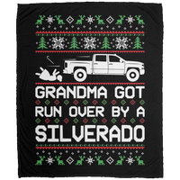 Wheel Spin Addict Christmas Chevy Silverado 2014-2018 Fleece Blanket - 50x60