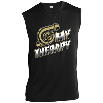 Turbo is My Therapy Boosted Sleeveless Performance T-Shirt