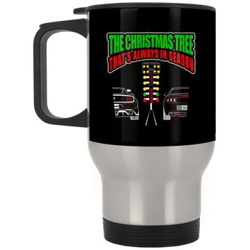 Wheel Spin Addict Race Tree Christmas Stainless Travel Mug