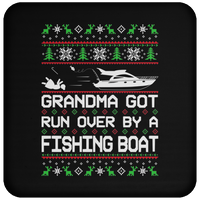 Wheel Spin Addict Fishing Boat Christmas Coaster
