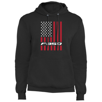 F-350 Super Duty Power Stroke American Flag USA Pullover Hoodie