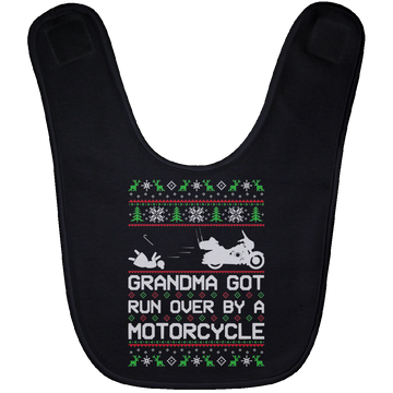 Wheel Spin Addict Motorcycle Chopper Christmas Baby Bib