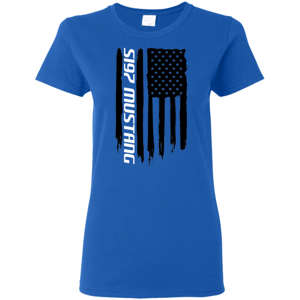 S197 Ford Mustang 2005-2014 American Flag Ladies' T-Shirt