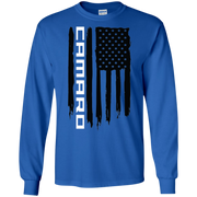 Chevy Camaro SS RS ZL1  American Flag T Shirt Long Sleeve