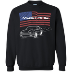Foxbody Ford Mustang 5.0 GT Notch American Flag Crewneck Pullover Sweatshirt