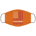 Lineman American Flag Face Mask