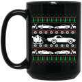 Wheel Spin Addict Corvette C4 C5 C6 C7 Christmas 15 oz. Black Mug